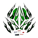 bazutiwns Calcomanías de la Motocicleta Caja de Las calcomanías Calcomanías de Pegatina Completa para Kawasaki Ninja ZX14R HSLL (Color : Green)