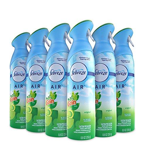 Febreze Air Freshener and Odor Eliminator Spray, Gain Original Scent, 8.8 Oz (Pack of 6)
