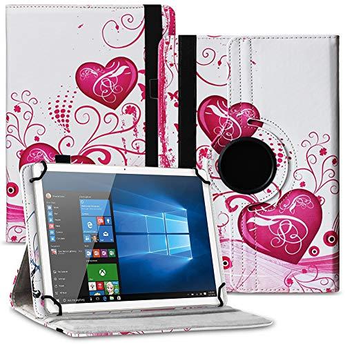 Tablet Hülle kompatibel für Xido Z120 Z110 X111 X110 Tasche Schutzhülle Hülle Cover aus Kunstleder Standfunktion 360° Drehbar, Farben:Motiv 5