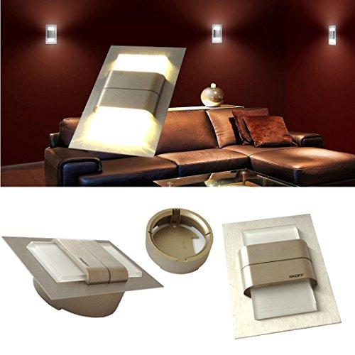 22802142 - LED wandverlichting trapverlichting wandlamp DUO TANGO lichtkleur: warmwit materiaal: geborsteld roestvrij staal. 1,6 watt inclusief opbouwring en transformator.