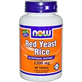 Now Foods, Red Yeast Rice 1200 mg 60 Tablets