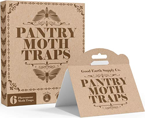 Good Earth Supply Co. Premium Pantry Moth Traps Eco Friendly with Pheromone Attractants | Pack of 6