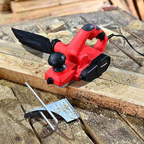 AOBEN 7-Amp Electric Hand Planer, 18000Rpm 3-1/4-Inch Wood Planer, with Adjustable Planing Depth Power Planer for Woodworking Chamfer Home DIY