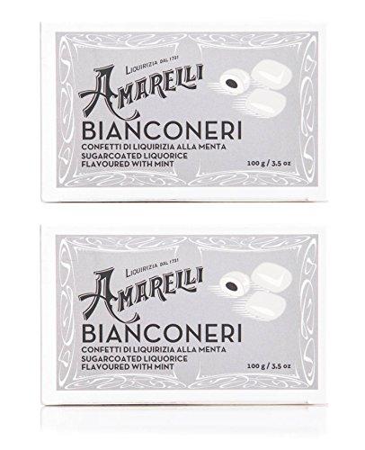 Amarelli Regaliz - Bianconeri Regaliz De Hierbabuena Cubierto De Azúcar - 2x100 gr