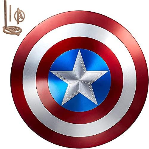 HLWJXS 24 '' Escudo del Capitán América de Marvel, edición de coleccionista del 75 Aniversario de la película, aleación de Aluminio de Grado aeronáutico 1 a 1, Accesorios de Mano, decoración Modelo