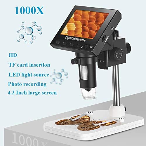 """TQ USB Mikroskop 1600x USB-Digital-elektronisches Mikroskop Tragbare 8 LED Mikroskop mit 4.3\"""" HD-Bildschirm für PCB Motherboard Reparatur"""