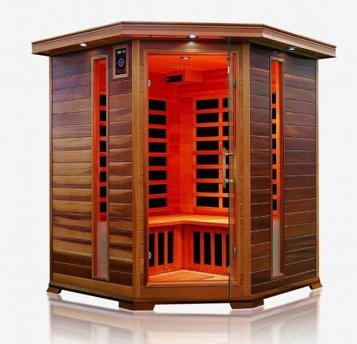 Trade-Line-Partner Infrared Cabin / Heat Cabin / Sauna - Corner for 4 People