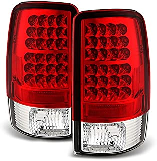 For 00-06 Suburban Taho Yukon Yukon Denali Red Clear LED Tail Lights Brake Lamps FOR LIFTGATE MODEL