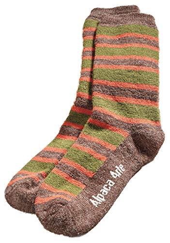 Gluten Free Palace Herren Alpaca Stripe Legere Socken, braun, Large