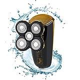 Máquina de afeitar eléctrica para hombres Mojado y seco Razor IPX7 Afeitado de barba de pelo Máquina de afeitar 3D flotante rotativo con 5 cuchillas USB recargable