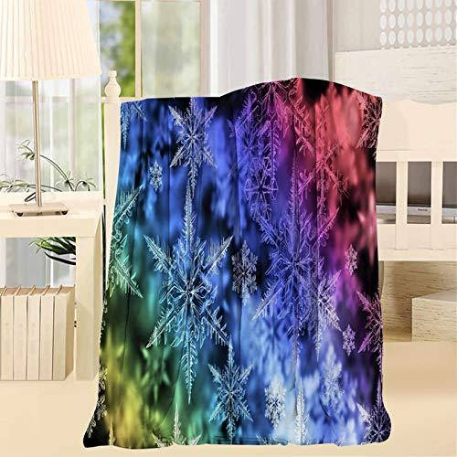 2183 colores copos de nieve tiro mantas impresión 3D ilustraciones super suave mullido cálido sólido para cama sofá manta de microfibra