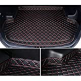 RelaxToday Tapis de Coffre de Voiture pour Peugeot 307 Hatchback 2011-2015 Tapis de Coffre en Cuir personnalisé Accessoires intérieurs Doublure de Coffre