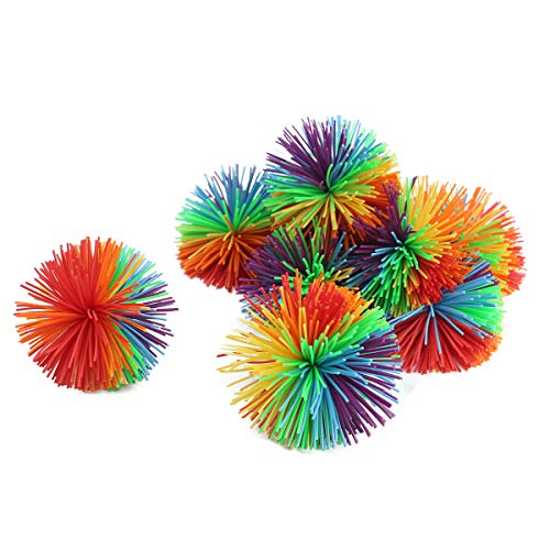 WeFidget 10 Pack 2.4' Stringy Balls, Great Sensory Toy, Bouncy Ball, Fun Party Favor, Monkey Stringy Balls (Multicolored)