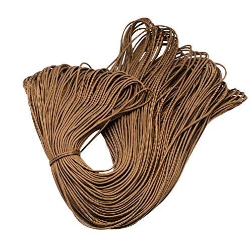 PH PandaHall 100m 2mm Parachute Rope Paracord Polyester Ropes Spandex Accessory Cord Rope Multipurpose for Bracelets Making(Sienna)