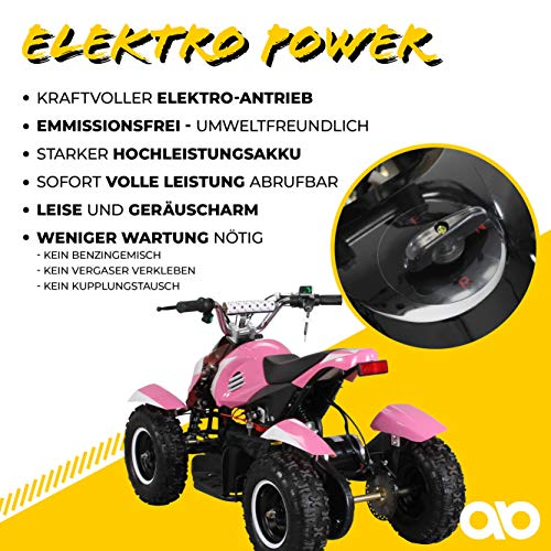 Miniquad Kinder ATV pink/weiß - 3