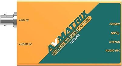 V2 AVMATRIX UC2018 HDMI/SDI to USB 3.1 Type-C HDMI or SDI in, and USB 3.1 Gen1(USB3.0) Out Automatic Input Signal Detectio...