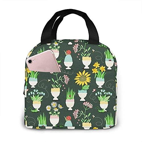 Easter Bloom tragbare isolierte Lunchbox wasserdichte Tote Bento Tasche für das Büro Wandern Strand Picknick