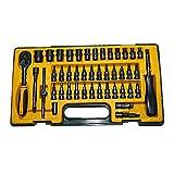 Caja de herramientas del vehículo Set de herramientas mecánicas de 45 piezas Set de herramientas de trinquete Destornillador Bloques napkindurable Conjunto de herramientas automotrices Kit, incluido e