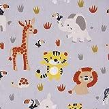 SCHÖNER LEBEN. Baumwollstoff Popeline Baby Animals Baby
