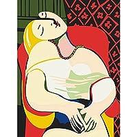 LovetheFamily 数字油絵 数字キット塗り絵 手塗り DIY絵 デジタル油絵 美しい女の子 40 x 50 cm ホーム オフィス装飾