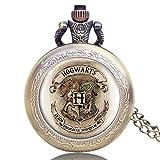 Reloj de bolsillo para hombre, de Harry Potter, reloj de bolsillo clásico de cuarzo, con cadena, el mejor regalo para hombres