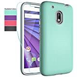 Moto G Play Case,Moto G4 Play Case with HD Screen Protector,NiuBox Dual Layer Armor Anti-Slip Shock Absorption Protective Phone Case Cover for Motorola Moto G Play/Moto G4 Play - Turquoise