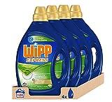 Wipp Express Detergente Líquido Antiolores - Pack de 4, Total: 120 Lavados