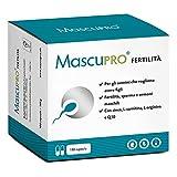 MascuPRO® Fertilità Uomo - Produzione di spermatozoi - 180 Capsule per la fertilità maschile - L-carnitina, Zinco - Prodotto in Germania