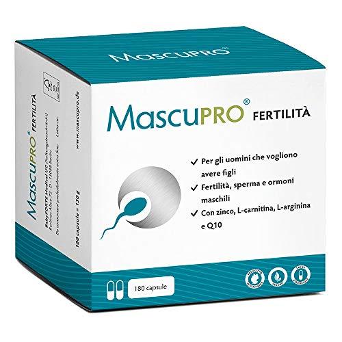 MascuPRO® Produzione di spermatozoi - 180 Capsule per la fertilità maschile -...