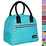 OPUX Lunch Box for Women | Insulated Lunch Bag Tote for Girls, Ladies, Teens | Medium Reusable Soft Lunch Bag Purse Cooler for School, Work, Office | Fits 12 Cans (Turquoise)