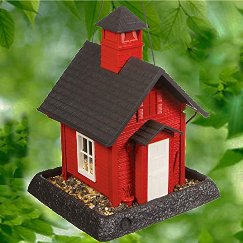North States Village Collection School House Birdfeeder: Easy Fill and Clean. Squirrel Proof Hanging...