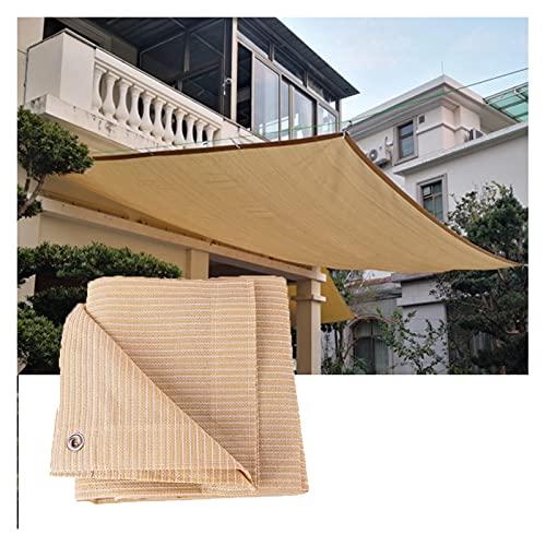 RZEMIN Toldo Malla Sombra, Espesar 6 Agujas Tejer Anti-UV Bloqueador Solar Paño Sombreado, Invernadero Aire Libre Balcón Protector Privacidad, Tamaño Personalizado (Color : Beige, Size : 2cmx6cm)