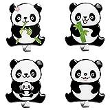 4 Pezzi Panda Ganci Adesivi Portasciugamani Gancio Adesivo Impermeabile in Acciaio Inox Ganci a Parete Appendini per Appendere Accappatoio Asciugamano Cappotti per Bagno Cucina