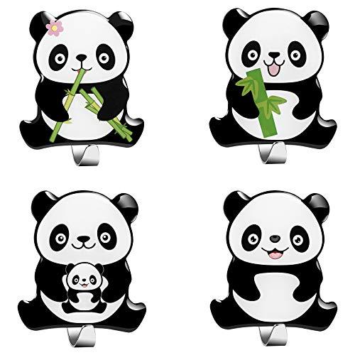 4 Stück Panda Haken Selbstklebend Edelstahl Ohne Bohren Kann zum Aufhängen von Bademänteln Handtüchern Kleidung und Toilettenartikeln Verwendet Werden Geeignet für Küche Bad Wohnzimmer