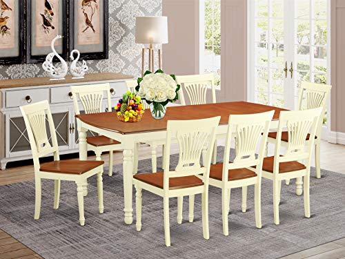 9 Pc Dining room set for 8- Dining Table and 8 Kitchen Chairs