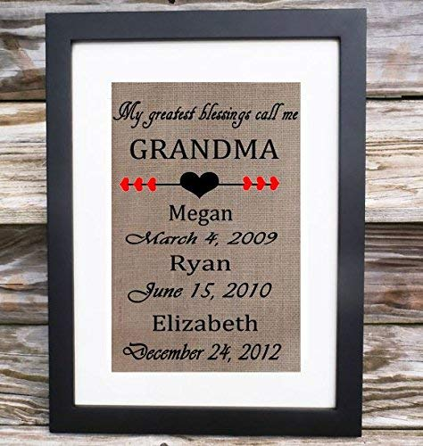 My Greatest Blessings Washington Max 43% OFF Mall Call Me Grandmother for Grandma Mothe Gift