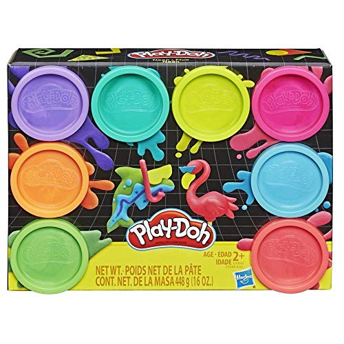 Hasbro Play-Doh 8 Pack Neon, 8 Barattoli