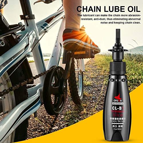 Ganmek 60 ml / 2 Unzen Fahrradkette Trockenschmiermittel - Motorradwartung | Fahrradreparaturwerkzeug | Sanitärkettenöl | Outdoor Riding Mountainbike Schwungrad Ausrüstung Valuable