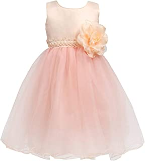 Little Girl Flower Girl Dress Tulle Pearl Petals Pageant Birthday Wedding Party Tutu Dresses Toddler 0-10 Years