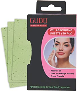 GUBB USA Blotting Papers/Sheets For Oily Skin, Oil Absorbing Sheets For Face Oil Control Tissue 50 Pcs.
