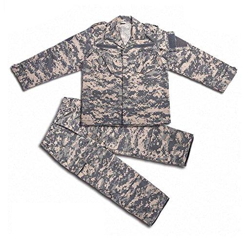 H Welt EU Tactical Airsoft Kinder Kleidung Kinder BDU Jagd Militär Camouflage Combat Uniform Anzug Jacke Hemd & Hose (ACU, 160)