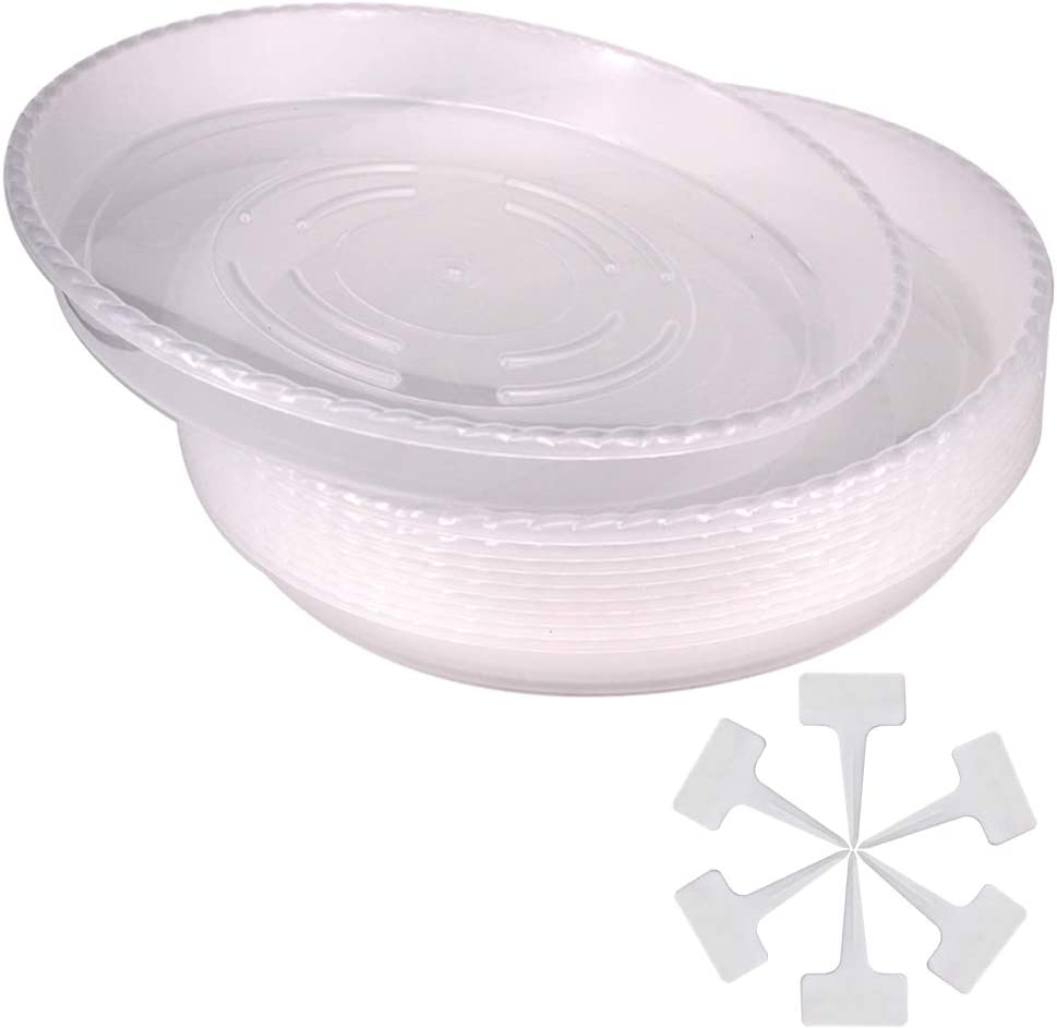 Belinlen 10 Pack 12 Inch Durable Drip Overseas parallel import regular item Plant Trays Saucer Product Plastic