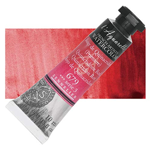 Sennelier l'Aquarelle Watercolor Tubes 10ml - Quinacridone Red 10ml Tube