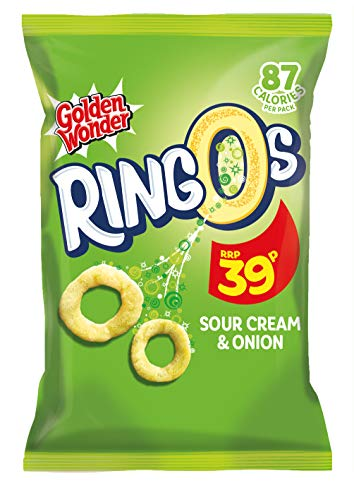 Golden Wonder Sour Cream and Onion Ringos 18 g - 24 Count