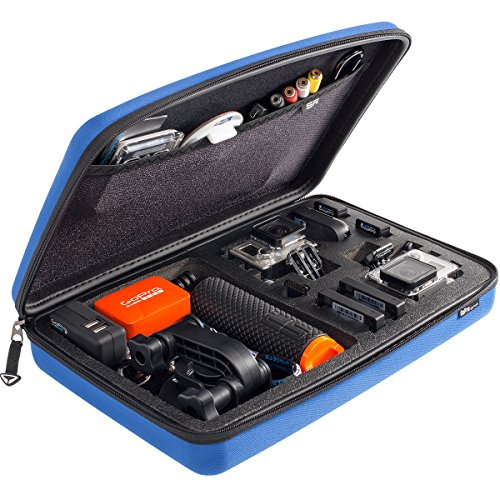 Helmkamera SP POV Case 3.0 Large GoPro-Edition für Hero 1, 2, 3, 3+, blue