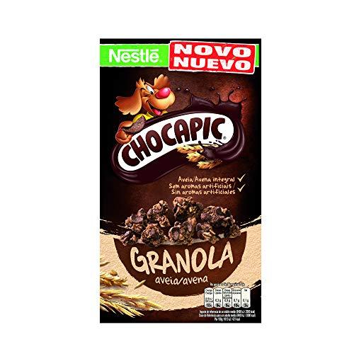 Cereales Nestlé Chocapic granola -Copos de avena integral y trigo con chocolate...