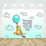 Photography Backgrounds Winnie The Pooh White Clouds Bearbaby Shower Backdrop Birthday Party Cartoon Photography For Outdoor Theme Shoot Props Background Decoration Studio Party Booth Photo