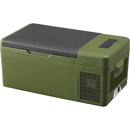アイリスプラザ 車載冷蔵庫 クーラーボックス カーキ 15L スピード冷却 -20℃~20℃ スマホ充電可能 PCR-15U-G
