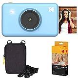 KODAK Mini Shot Instant Camera (Blue) Basic Bundle + Paper