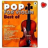 Pop for Violin : Best of - 16 All-Time Pop-Hits - Das Beste aus zehn Ausgaben Pop for Violin! - Notenbuch mit bunter herzförmiger Notenklammer
